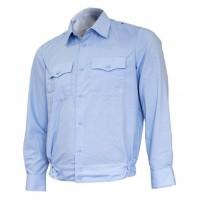 Рубашка голубая длинный рукав