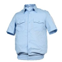 Рубашка голубая короткий рукав
