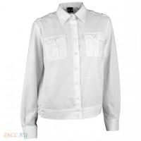 Блузка белая длинный рукав