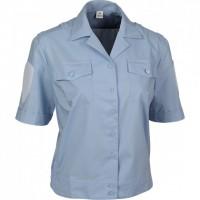 Блузка голубая короткий рукав